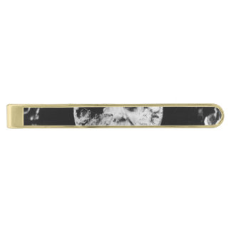 A Trip to the Moon Gold Finish Tie Clip