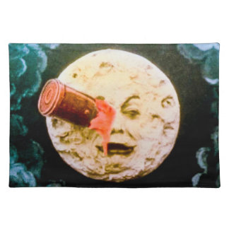 A Trip to the Moon (Hand Colored) Cloth Placemat