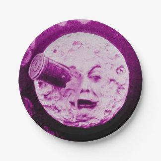 A Trip to the Moon Le Voyage dans la Lune Vintage 7 Inch Paper Plate