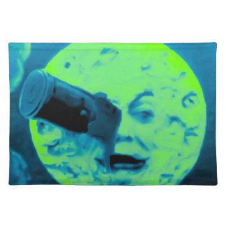 A Trip to the Moon (Martian Aqua Fuzz) Place Mat