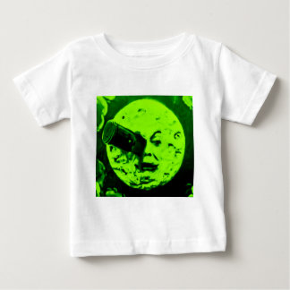 A Trip to the Moon (Martian Retro Green) Baby T-Shirt