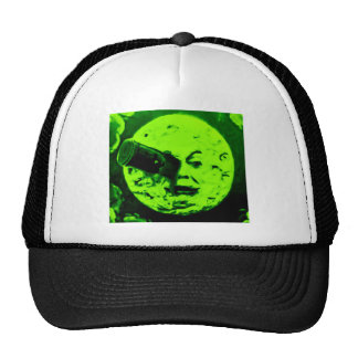 A Trip to the Moon (Martian Retro Green) Mesh Hats