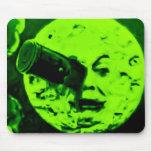A Trip to the Moon (Martian Retro Green) Mousepad