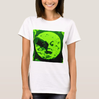 A Trip to the Moon (Martian Retro Green) T-Shirt