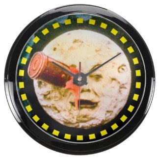 A Trip to the Moon or Le Voyage dans la Lune Retro Aquavista Clock
