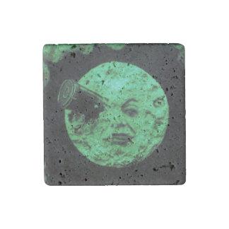 A Trip to the Moon or Le Voyage dans la Lune Retro Stone Magnet