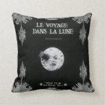 A Trip to the Moon or Le Voyage dans la Lune Retro Throw Pillow
