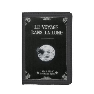A Trip to the Moon or Le Voyage dans la Lune Retro Tri-fold Wallet