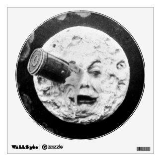 A Trip to the Moon or Le Voyage dans la Lune Retro Wall Sticker