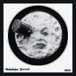 """A Trip to the Moon or Le Voyage dans la Lune Retro Wall Sticker<br><div class=""""desc"""">Le Voyage dans la Lune /A Trip to the Moon (France, 1902), the screen&#39;s first science fiction story, was a 14 minute masterpiece created by imaginative French director and master magician Georges Melies (1861-1938) in his version of the Jules Verne story. The silent film&#39;s plot, a light-hearted satire criticizing the...</div>"""