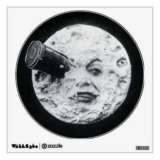 A Trip to the Moon or Le Voyage dans la Lune Retro Wall Sticker