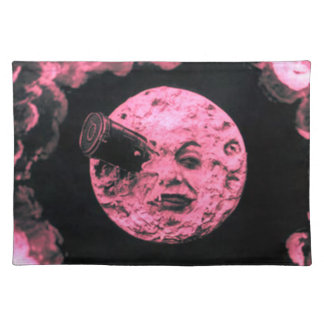 A Trip to the Moon (Pink Fuzzed) Placemats