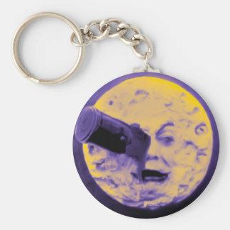 A Trip to the Moon (Purple Fizzy Fuzz) Basic Round Button Keychain