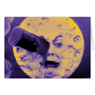 A Trip to the Moon (Purple Fizzy Fuzz) Card