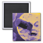 A Trip to the Moon (Purple Fizzy Fuzz) 2 Inch Square Magnet