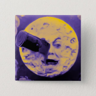 A Trip to the Moon (Purple Fizzy Fuzz) Pinback Button