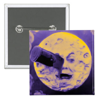 A Trip to the Moon (Purple Fizzy Fuzz) Pinback Button