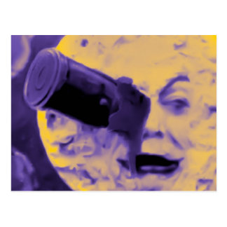 A Trip to the Moon (Purple Fizzy Fuzz) Postcard