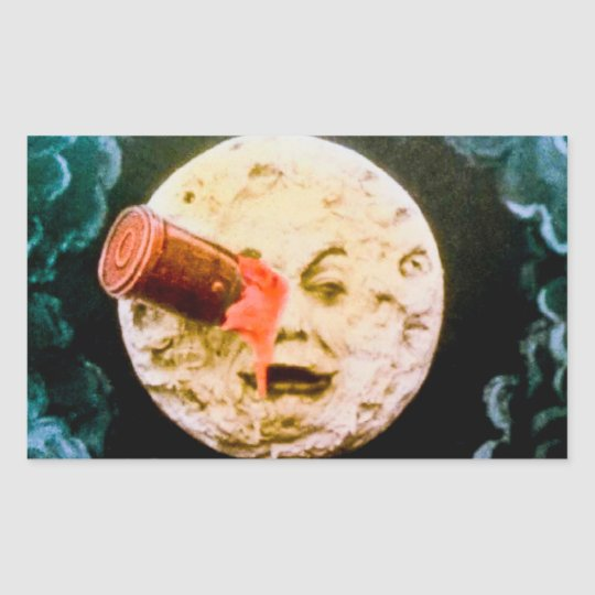 A Trip to the Moon Rectangular Sticker