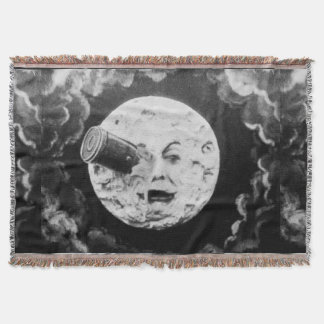 A Trip to the Moon Retro Vintage French Movie Throw Blanket