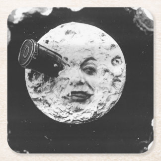 A Trip to the Moon Square Paper Coaster