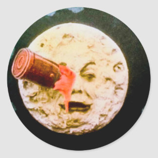 A Trip to the Moon Round Stickers