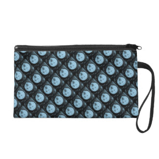 A Trip to the Moon Vintage French Sci Fi Wristlet Purse