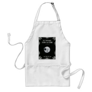 A Trip to the Moon Vintage Retro French Cinema Adult Apron