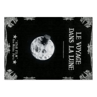 A Trip to the Moon Vintage Retro French Cinema Business Cards
