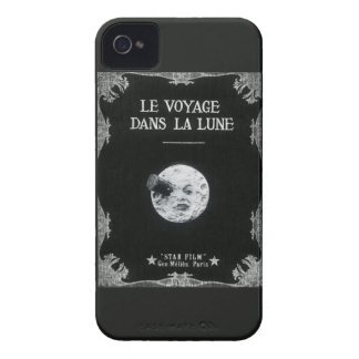 A Trip to the Moon Vintage Retro French Cinema iPhone 4 Covers