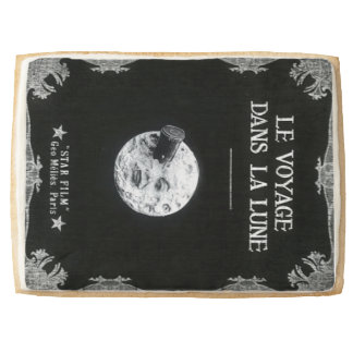 A Trip to the Moon Vintage Retro French Cinema Jumbo Cookie