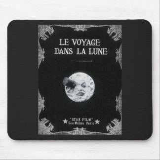 A Trip to the Moon Vintage Retro French Cinema Mousepad