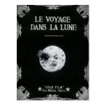 A Trip to the Moon Vintage Retro French Cinema Post Cards