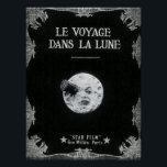 """A Trip to the Moon Vintage Retro French Cinema Poster<br><div class=""""desc"""">Le Voyage dans la Lune /A Trip to the Moon (France, 1902), the screen&#39;s first science fiction story, was a 14 minute masterpiece created by imaginative French director and master magician Georges Melies (1861-1938) in his version of the Jules Verne story. The silent film&#39;s plot, a light-hearted satire criticizing the...</div>"""