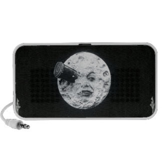 A Trip to the Moon Vintage Retro French Cinema Mp3 Speakers