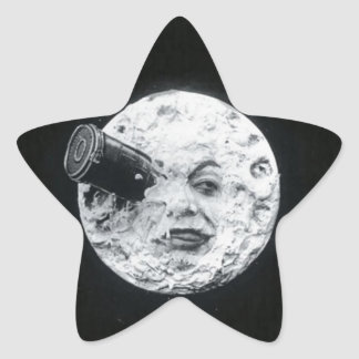 A Trip to the Moon Vintage Retro French Cinema Star Sticker