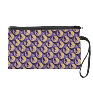 A Trip to the Moon Vintage  Sci Fi French Wristlet