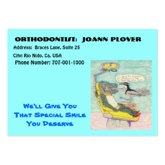 A Trip To The Orthodontist Large Business Card