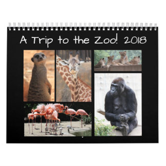 A Trip to the Zoo! 12 months of Zoo Animal Friends Calendar