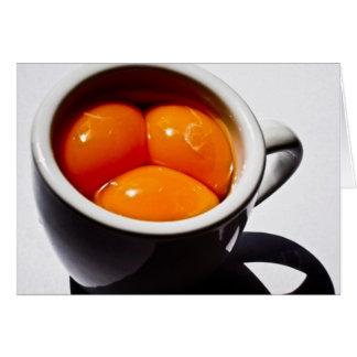 "A Triple ""Eggspresso"" Card"