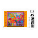 'A Triumph of Tulips' Quilt Postage Stamps