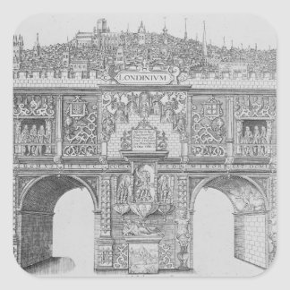A Triumphal Arch, engraved by William Kip, 1604 Square Sticker