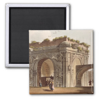 A Triumphal Arch of Tripoli in Barbary, plate 24 f 2 Inch Square Magnet