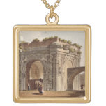 A Triumphal Arch of Tripoli in Barbary, plate 24 f Square Pendant Necklace