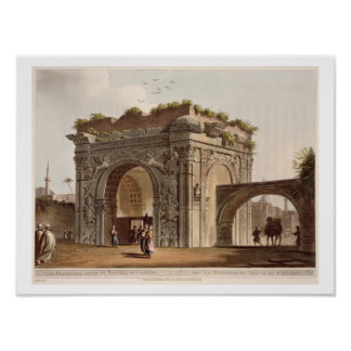 A Triumphal Arch of Tripoli in Barbary, plate 24 f Poster