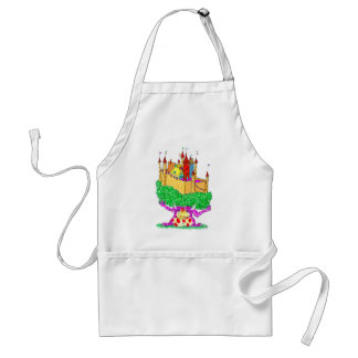 A troll and a castle adult apron