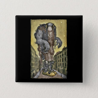 A Troll in the City Pinback Button