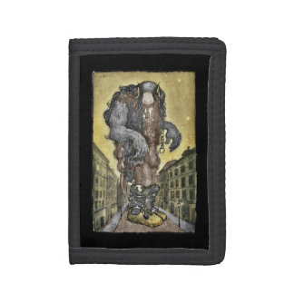 A Troll in the City Tri-fold Wallets