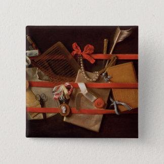 A Trompe L'Oeil of Objects Pinback Button