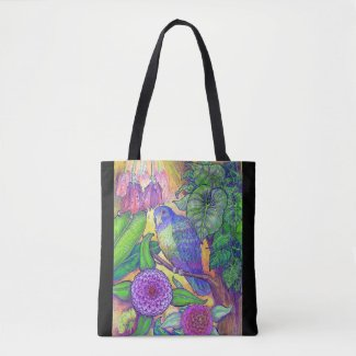 A Tropical Beauty in Deep, Rich Color Tote Bag
